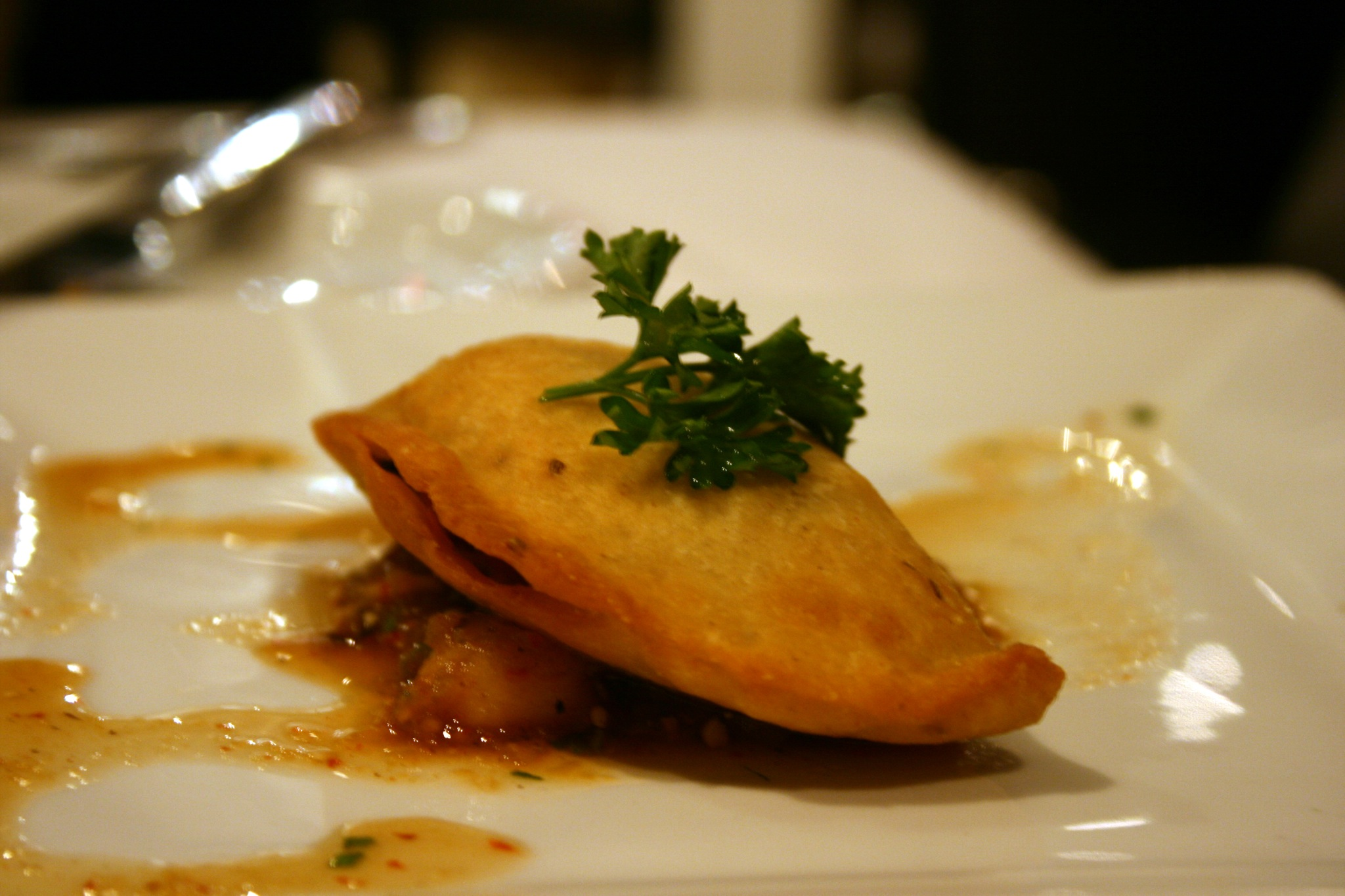 Empanadas stuffed with mussels