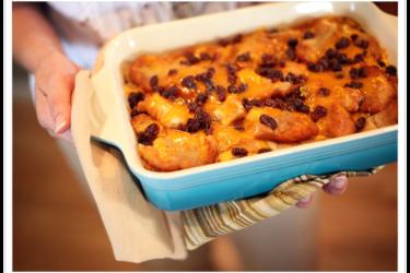 Capirotada (Mexican Bread Pudding), photo by Yvette Marquez-Sharpnack