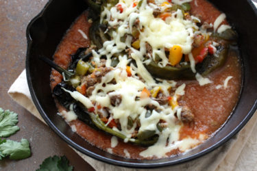 Poblanos Stuffed With Picadillo, photo by Yvette Marquez-Sharpnack