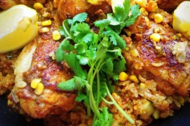 Arroz con Pollo with Mexican Chorizo