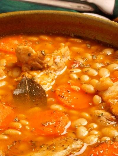 White Bean and Pork Rib Soup (Sopa de Frijoles Blancos con Costilla de Cerdo), photo by Alicia Maher