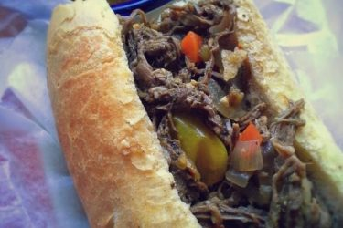 Hot Pepper Beef Dip Sandwich