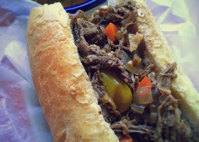Hot Pepper Beef Dip Sandwich, photo by Sonia Mendez Garcia