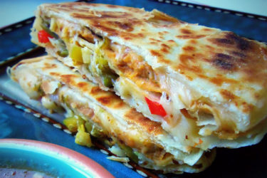 Sincronizadas: Double-Stacked Quesadillas
