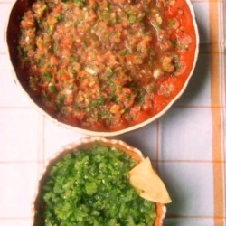 Fresh Tomato and Tomatillo Salsa