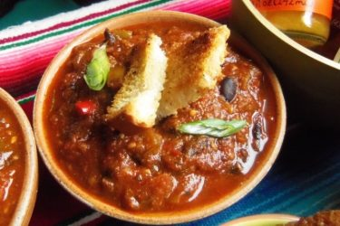 Cowboy Cactus Pork Chili, photo by Sonia Mendez Garcia