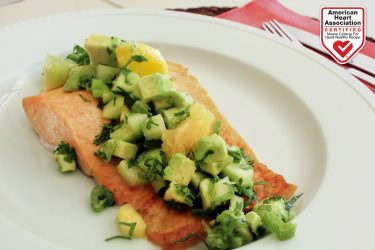Oven-Roasted Salmon with Avocado Citrus Salsa, photo by Fresh Avocados - Love One Today