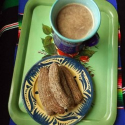 Cinnamon Churros and Champurrado