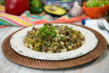 Chile Verde Beef Picadillo, photo by Sonia Mendez Garcia