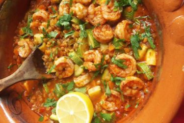 Lentejas con Camarones y Calabacitas (Lentils With Shrimp and Squash), photo by Sonia Mendez Garcia