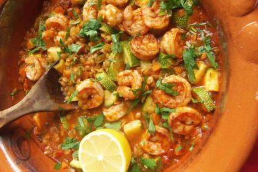 Lentejas con Camarones y Calabacitas (Lentils With Shrimp and Squash)