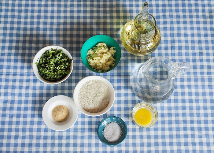 Measure ingredients and prepare your work station