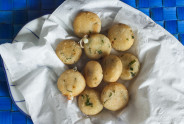 Cilantro and Cheese Mini Arepas