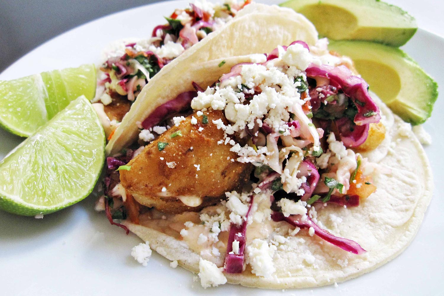 Baja fish tacos hispanic kitchen hispanic kitchen for Fish burrito recipe