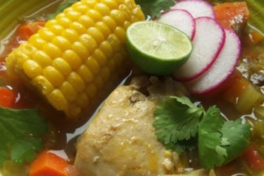 Caldo de Pollo (Chicken and Vegetable Soup), photo by Sonia Mendez Garcia