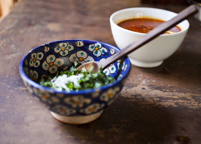 Combine all of the ingredients for the cilantro salsa in a bowl. Stir well to combine, taste for salt. Cover tightly and let marinate for at least 2 hours. If you can marinate it overnight, even better.