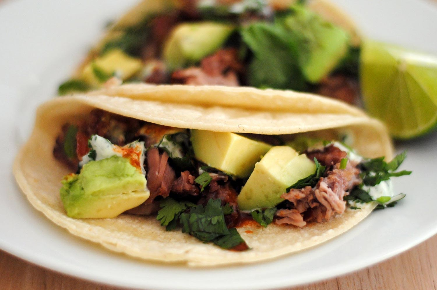 Fried Carnitas Tacos With Zesty Cilantro Lime Sauce