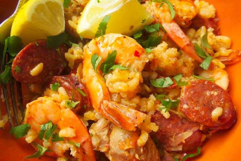 Chicken, Shrimp and Chorizo With Rice