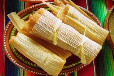 Chile Colorado Pork Tamales, photo by Sonia Mendez Garcia