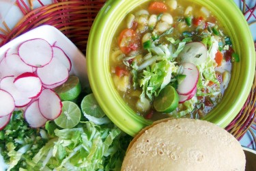 Chile Verde Vegetable Posole, photo by Sonia Mendez Garcia