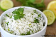 Full-flavored Cilantro Lime Rice Recipe with Lemon Juice