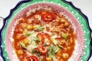 Garbanzo Bean Chili with Roast Tomatoes (Sopa de Garbanzos)