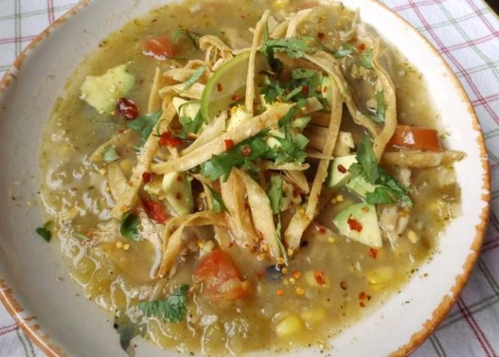 Roasted Green Chile Chicken Tortilla Soup, photo by Sonia Mendez Garcia