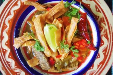 Steak Tortilla Soup, photo by Sonia Mendez Garcia