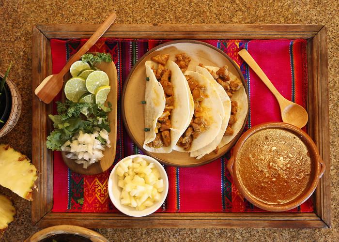 Tacos al Pastor, photo by Sonia Mendez Garcia