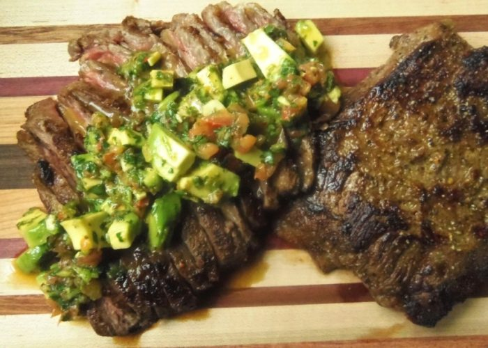Carne Asada a la Plancha with Cilantro Avocado Chimichurri, photo by Sonia Mendez Garcia