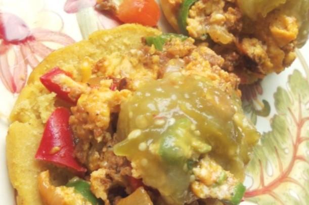 Chorizo and Potato Egg Scramble, photo by Sonia Mendez Garcia