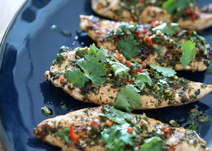 Grilled Chimichurri Chicken, photo by Sonia Mendez Garcia