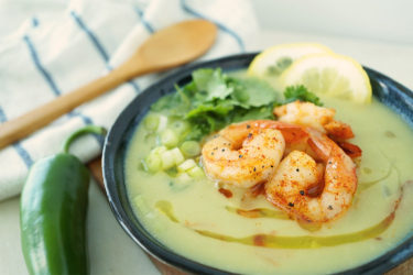 Healthy Avocado Shrimp Bisque, photo by Cheryl Wiwat