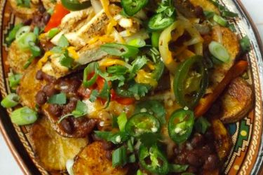 Homestyle Chicken Fajita Potato Nachos, photo by Sonia Mendez Garcia