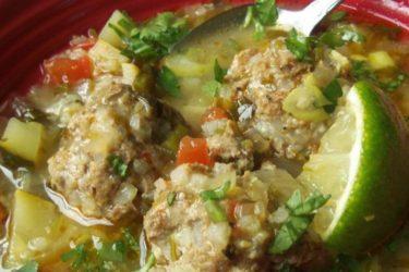 Kicked-Up Albóndiga Soup