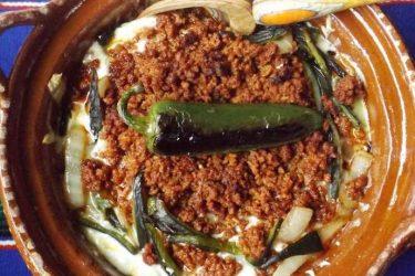 Queso Fundido With Chorizo and Guacamole