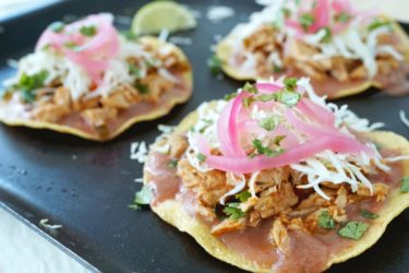 Roast Pork Tostadas With Chile Ancho Jam, photo by Sonia Mendez Garcia