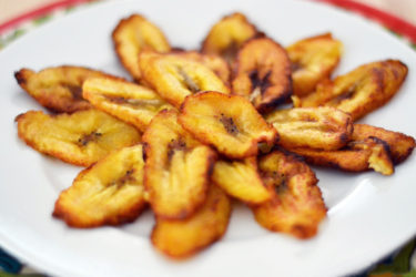 Tajadas (Fried Sweet Plantain Slices)