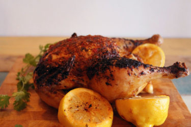 Roast Chicken with Lemon and Annatto