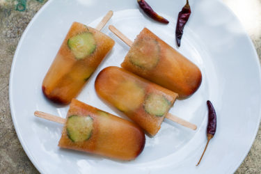 Cucumber Lime Popsicles with Chile Limón, photo by Sonia Mendez Garcia