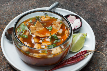 Pozole de Cerdo y Chile Colorado, photo by Sonia Mendez Garcia