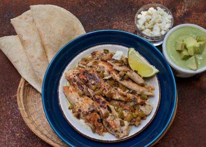 Grilled Chicken Tacos with Avocado Crema, photo by Sonia Mendez Garcia