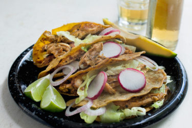 Braised Chicken Poblano Tacos