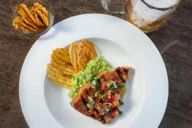 Grilled Tuna Steaks with Crispy Plantains, photo by Sonia Mendez Garcia