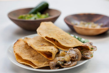 Mushroom Quesadillas, photo by Santiago Gomez de la Fuente