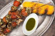 Barbecue Chicken Pinchos With Green Pesto, photo by Estrella Benmaman