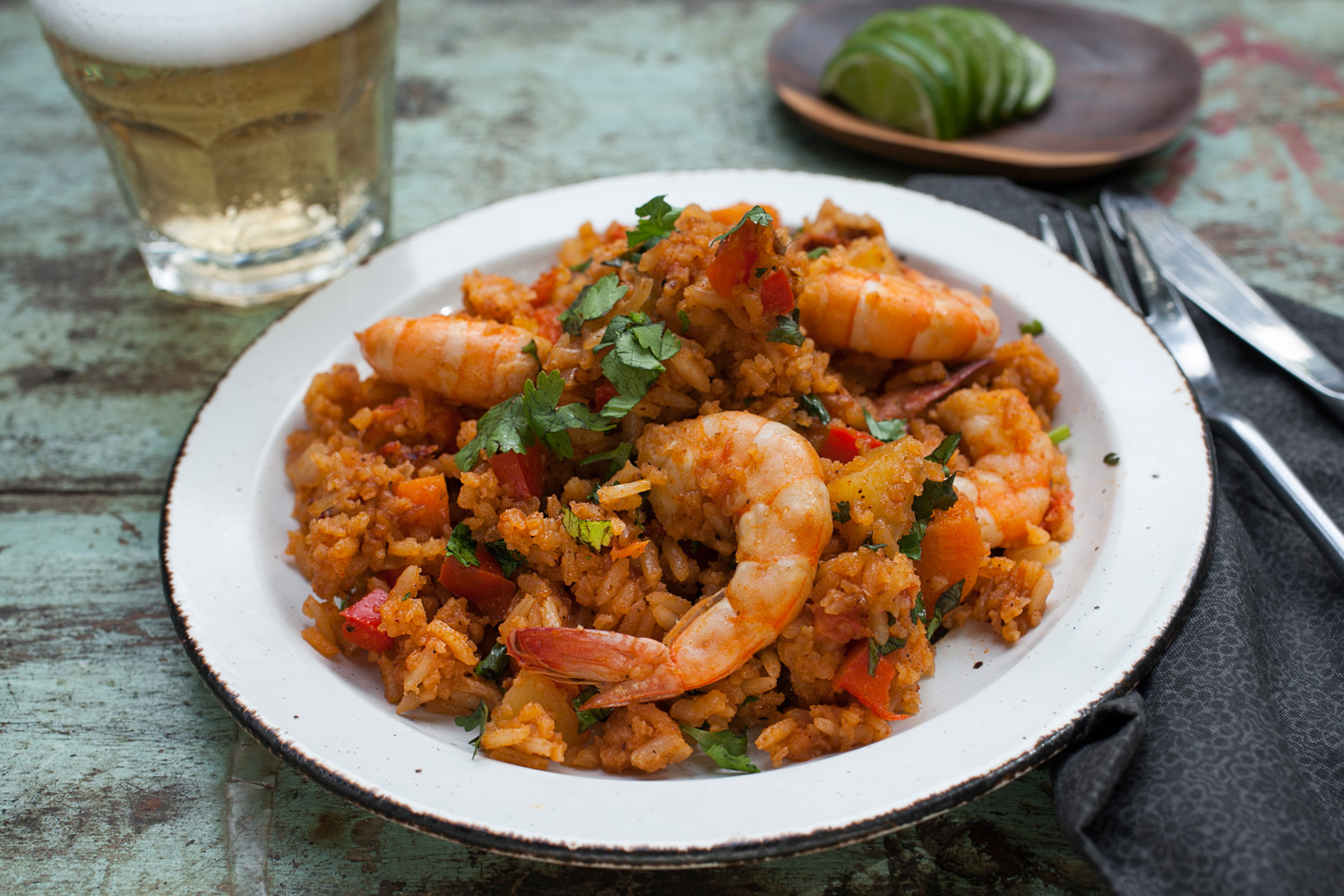 Chile Lime Shrimp and Rice