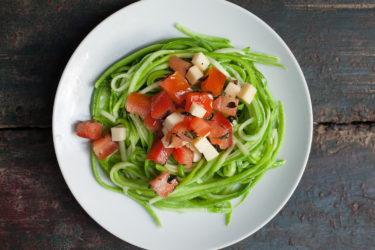 Caprese-Zucchini Spaghetti, photo by Estrella Benmaman