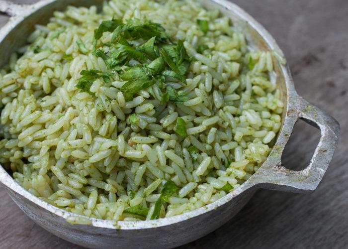 Mexican Green Rice, photo by Fernanda Alvarez