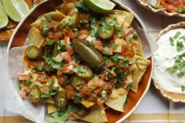 Chile Morita Beef Nachos with Spicy Queso, photo by Sonia Mendez Garcia